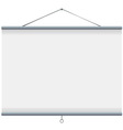 white blank projector screen vector image vector image