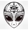 Alien face icon vector image