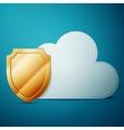Cloud computing security vector image