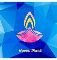 diwali traditional festive lamp vector image