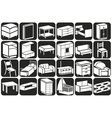 furniture icons volume vector image