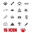grey pet icon set vector image