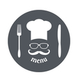 Hipster chef vector image