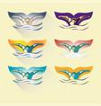 modern abstract swimming logo vector image