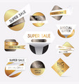 set of gold sale banners design discounts and vector image
