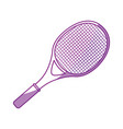 tennis racket isolated vector image