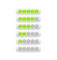 progress bar from green circles vector image vector image