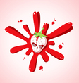 skull strawberries vector image