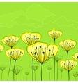 Stylized flowers on green vector image vector image