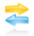 arrows cartoons vector image vector image