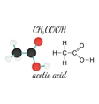 CH3COOH acetic acid molecule vector image