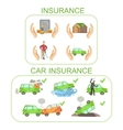Car And Other Insurance Infographic Poster vector image