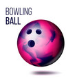 bowling ball isolated realistic vector image