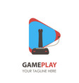 game logo pad icon gamer gaming video controller vector image