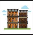 modern city houses vector image