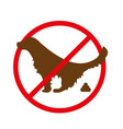no dog pooping sign vector image