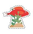 red fish half aquatic environment coral vector image