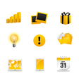 Yellow icons vector image vector image
