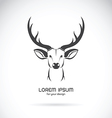 Image of a deer head design vector image