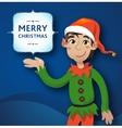 Funny Cute Dwarf Christmas Blue vector image