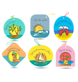 summer tags vector image vector image