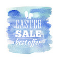 easter sale card vector image