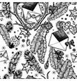 envelopes romance seamless pattern vector image