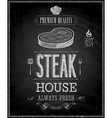 Steak chalk vector image