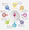 infographic template with dessert icons vector image