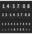 countdown timer and scoreboard numbers vector image