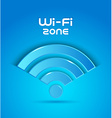 3d icon wi fi zone vector image