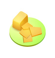 Cheddar cheese vector image