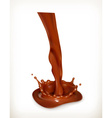 Splashes of chocolate isolated on white background vector image vector image