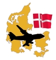 fly me to the Denmark vector image vector image