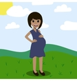 pregnant waiting for a miracle happiness vector image