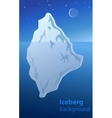 Iceberg night vector image