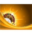 Gambling background with casino elements vector image