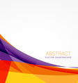 abstract colorful background with shapes vector image