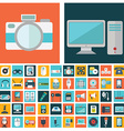 computer technology and electronics devices mobile vector image