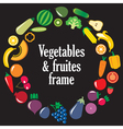 Fruits Vegetables frame vector image