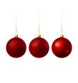 red christmas balls vector image