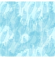 Seamless pattern with abstract blue feathers on vector image