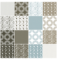 seamless patterns with dots circles and waves vector image