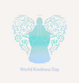world day of kindness card vector image