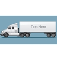 Abstract Modern Long Cargo Truck vector image