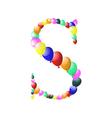 balloon alphabets letter vector image