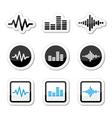 Soundwave music icons set Vector Image