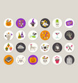 set of halloween gift tags and labels vector image vector image