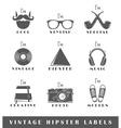 Set of vintage hipster labels vector image vector image