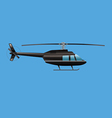 black helicopter vector image